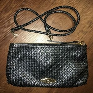 Elliot Lucca Woven Black Purse with Strap